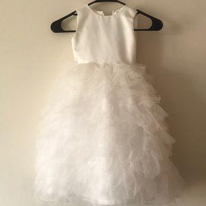 JOAN CALABRESE // Girl's Ruffled Formal Dress